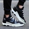 Nueva Marca de Moda de Los Hombres Zapatos de Los Planos Ocasionales Aliento Y3 Altura Creciente Hombres Chaussure Homme zapatillas Deportivas Hombre