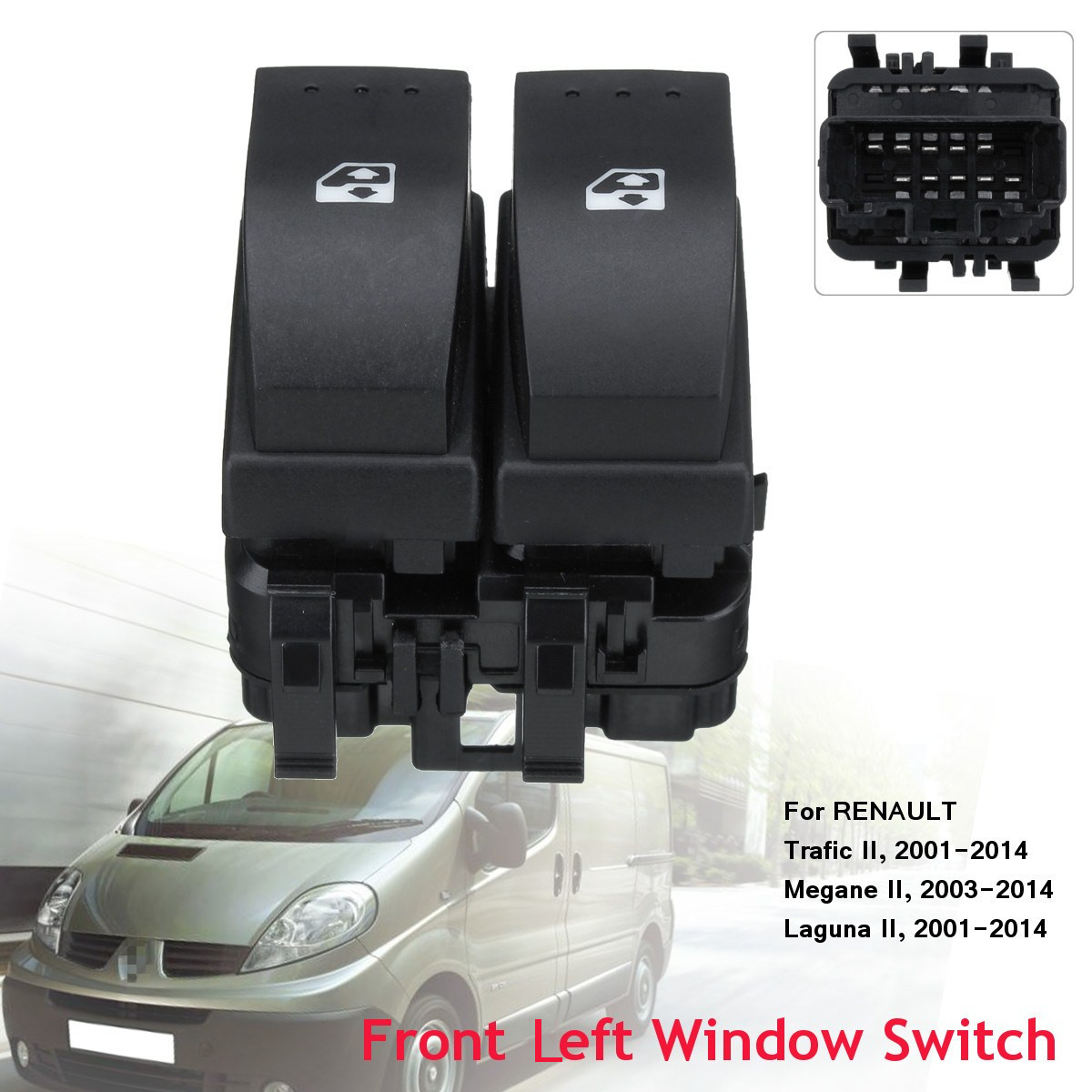 ELECTRIC POWER WINDOW CONTROL SWITCH bouton avant double pour Renault Espace 02