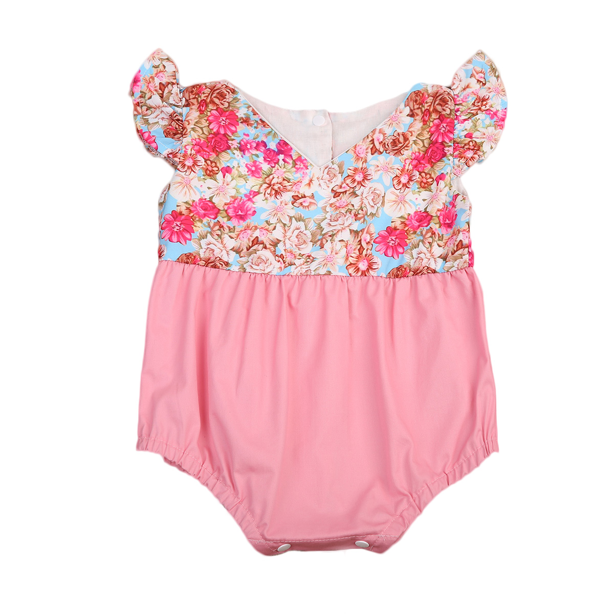Baby Girl Rompers Outfit Clothes Sunsuit Outfits Newborn Infant Floral Jumpsuit