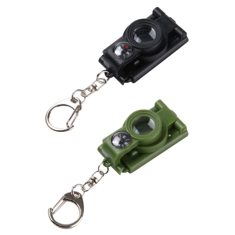 Mini Telescope Adventure-Tool Outdoor 3X With Battery Keychain ABS Multifunction Camping