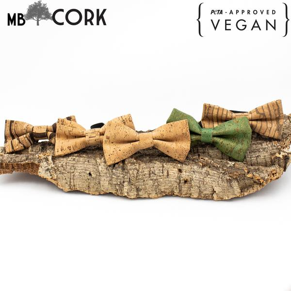 Cork Bow Tie For Men Wedding Party Accessories  Gift For Men  Wooden Bow Tie L-039