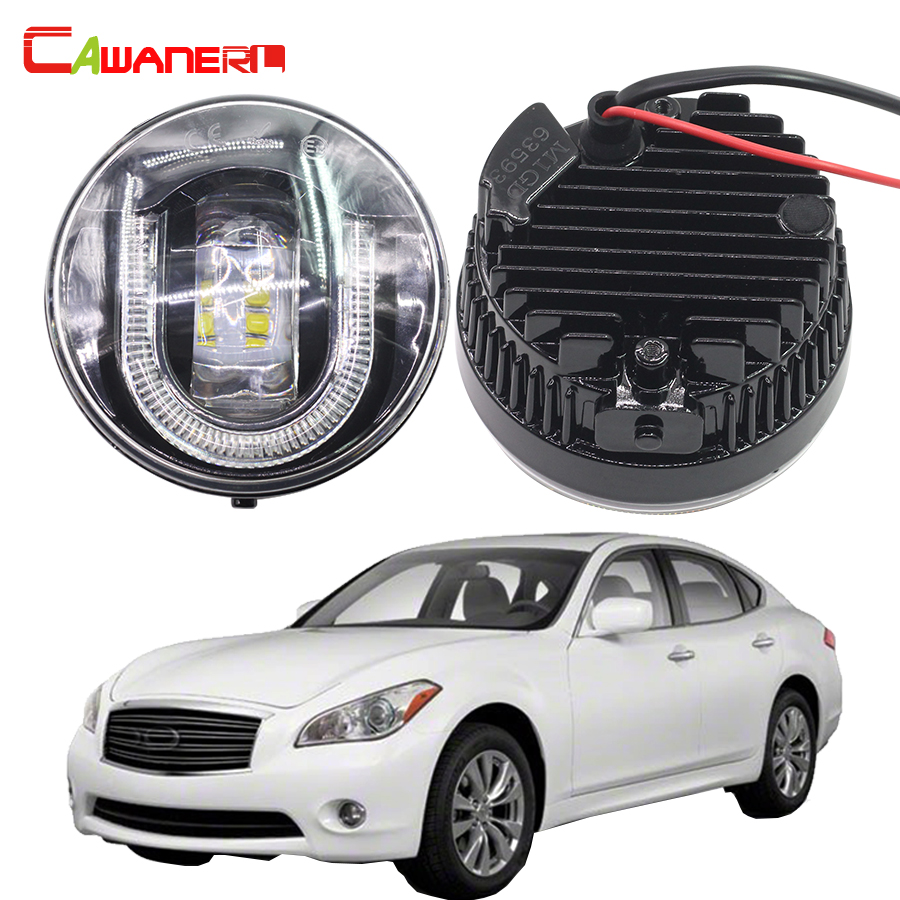 Cawanerl For Infiniti M37 2011 2012 2013 Car LED Front Fog Light Daytime Running Lamp DRL High Lumens 1 Pair cawanerl 2 pieces car styling led fog light daytime running lamp drl 12v for infiniti g37 sport 3 7l v6 gas 2011 2012 2013