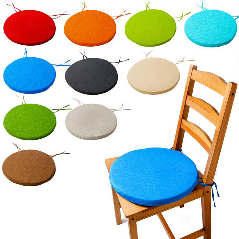 New Round Chair Cushion Pop Patio Office Chair Seat Pad Tie On Square Garden Kitchen Dining Cushion Pillow Thick Sponge Tatami