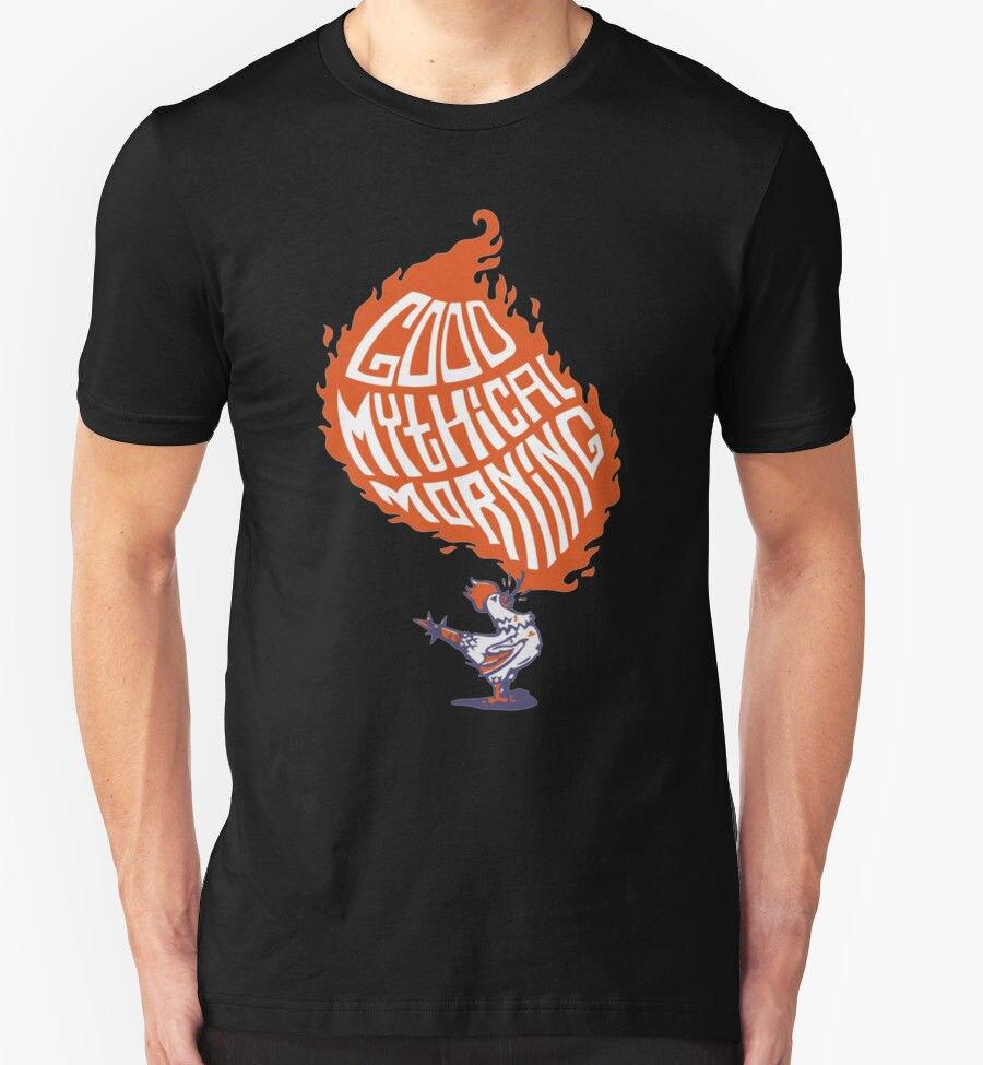 Good Morning мифический новая футболка Для мужчин черный