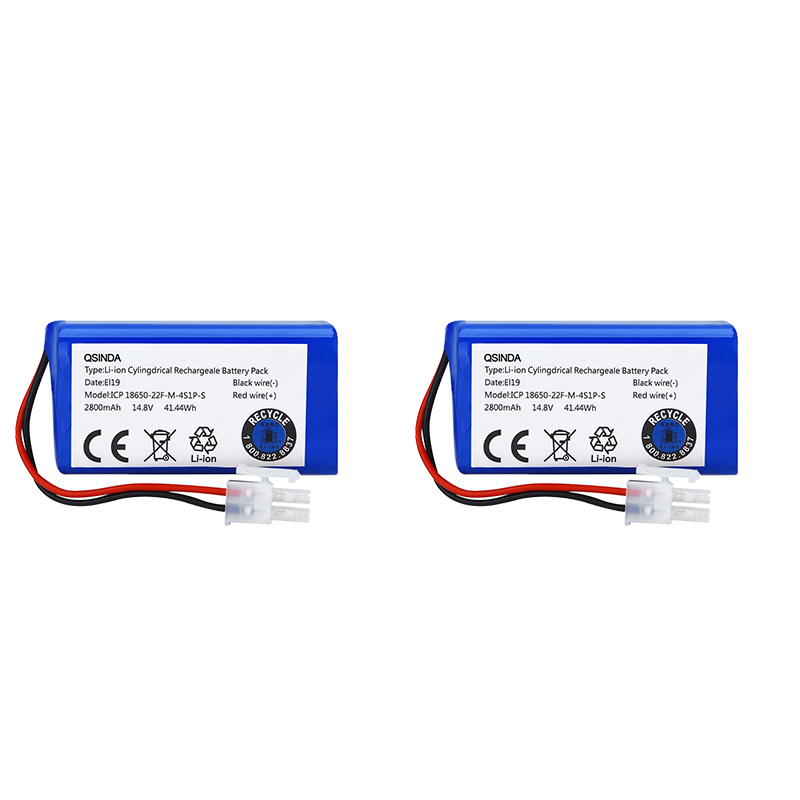 2 In 1 14.8V 2800Mah Replacement Battery For Ilife A4 A4S A6 V7 Robot Vacuum Cleaner