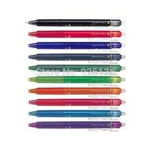 Pilot frixion мяч стук выдвижной стираемая гелевая ручка 0,5 мм Экстра Fine Ассорти 10 цветов Набор