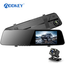 Car Dvr Camera Rearview-Mirror Driving Video-Recorder Dash-Cam Dual-Lens 1080P Full-Hd