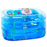 Голубой большой надувной бассейн безопасный ПВХ дети ребенок бассейн Портативный малыш ребенок игра бассейн