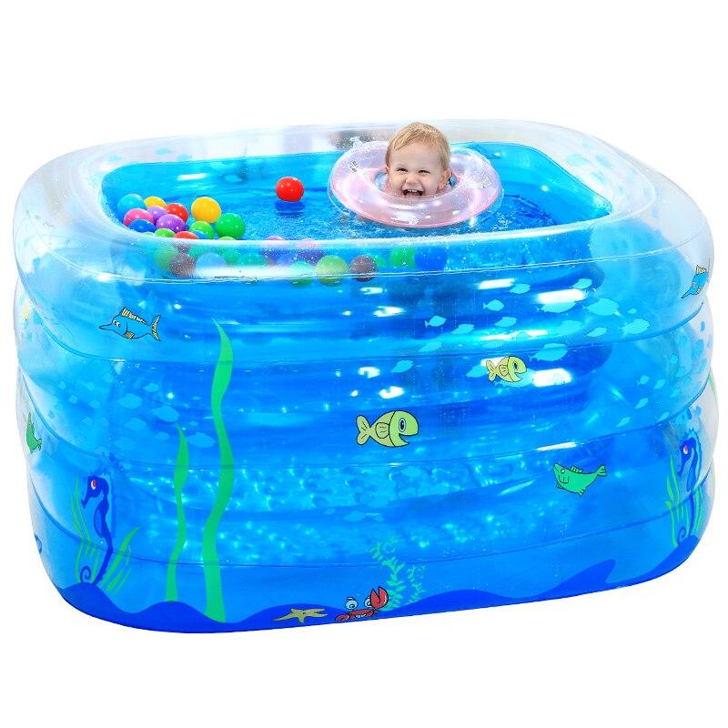 Bleu grande piscine gonflable coffre-fort PVC enfants bébé piscine Portable enfant en bas âge jouer jeu piscine