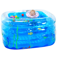 Blue Large Inflatable Swimming Pool Safe PVC Kids Baby Swimming Pool Portable Toddler Child Playing Game Pool