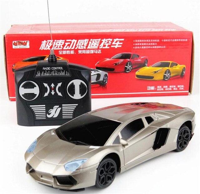 Высокая моделирования модель автомобиля дети удаленного гоночный автомобиль 1:24 RC игрушка-светильник 4 каналов авто дети образования подарок