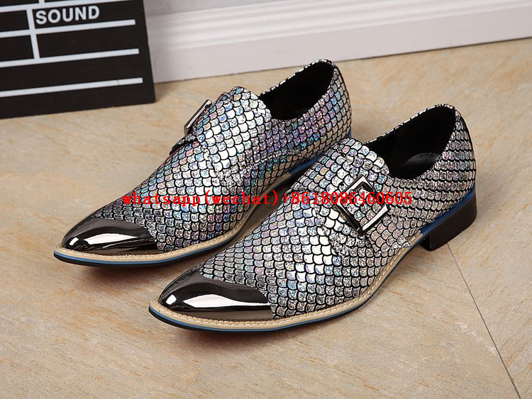 Choudory Luxury Brand Square Toe Gold Sliver Dress Formal Shoes Metallic  Glitter Loafers Man Snake Skin Leather Size12-in Formal Shoes from Shoes on  ... c5ff369b264d