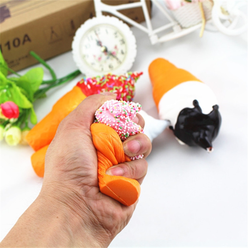 17CM Soft Scented Squishy Slow Rising Ice Cream Squeeze Fun Toys Cell Phone Keys Pendant Accessoriesbrob