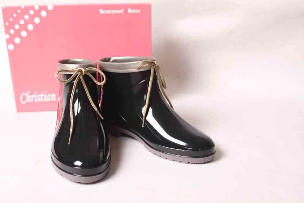 Duantong/декоративные весенние сапоги; Водонепроницаемая Обувь на низком каблуке; модные сапоги; резиновые сапоги