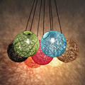 Vintage Wicker Pendant Light Lamp Loft Creative Personality Industrial Lamp American Style for Living Room Restaurant Bar Home