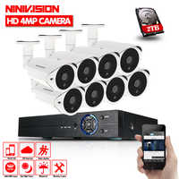 HD AHD 4MP 8CH HDMI 1080P DVR Kit 4.0MP Security Cameras System 8*2560*1440P Day Night Vision CCTV Home Security 4MP Camera Kits