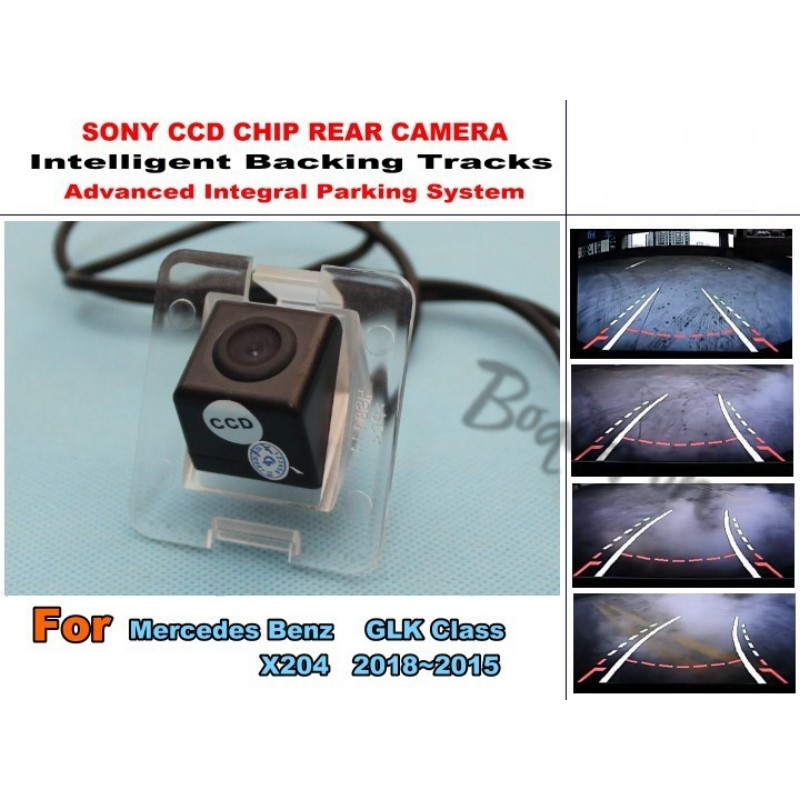 For Mercedes Benz GLK Class X204 2008~2015 Smart Tracks Chip Camera / HD CCD Intelligent Dynamic Parking Car Rear View Camera for renault duster 2010 2014 smart tracks chip camera hd ccd intelligent dynamic parking car rear view camera