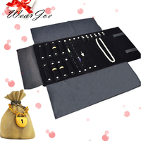 Jewelry Roll Up Storage Bag For Ring Earring Bracelet Necklace Chain Pandent Display Stand Holder Womens