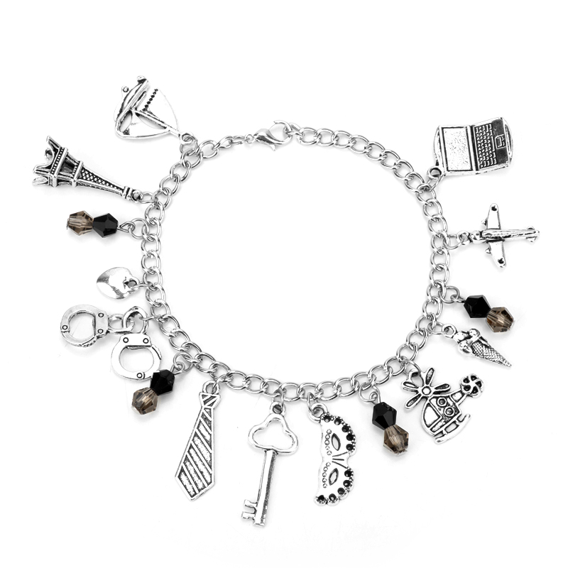 dongsheng 50 Fifty Shades of Grey Charm Jewelry Mask Handcuff Pendants Bracelets Movie Bracelets Women Fashion Charm Bracelet-25