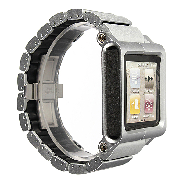 Aluminium Watch Straps Multi Touch Replacement For iPod Nano 6th New Color Silver