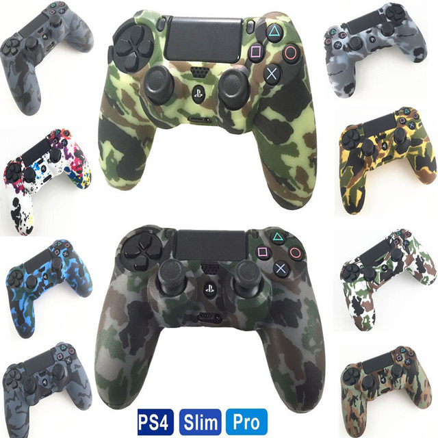 PS4 kontroler futerał silikonowy żel osłony rękaw skóry uchwyty kapsle ochronne dla konsoli Playstation 4 PS4 Pro Slim V1 V2 Gamepad akcesoria
