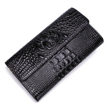 Fashion Alligator Genuine Leather Women Wallet Purse Women Day Clutch Bag Leather Women Bags Evening Cutch Bag High Quality