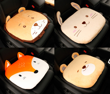 1 Piece Cute Car Cartoon Animal Plush Seat Cushion For Autumn & Winter Thick Bottom Anti-slip