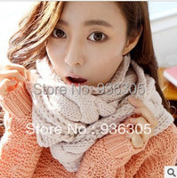 2015 new winter scarf Fashion style Winter knitting Wool Collar Neck Warmer woman Ring Scarf Scarves For Women /Ladies