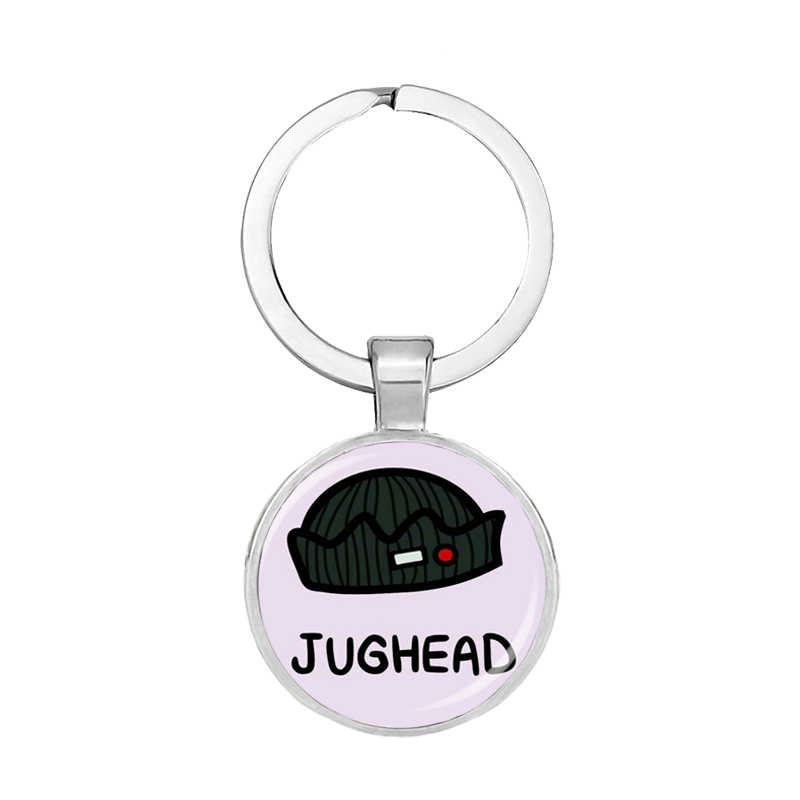 New Fashion Riverdale Personalized Photo Glass Cabochon Dome Heart Keychains Handmade Car Bag Holder Key Women Men Jewelry
