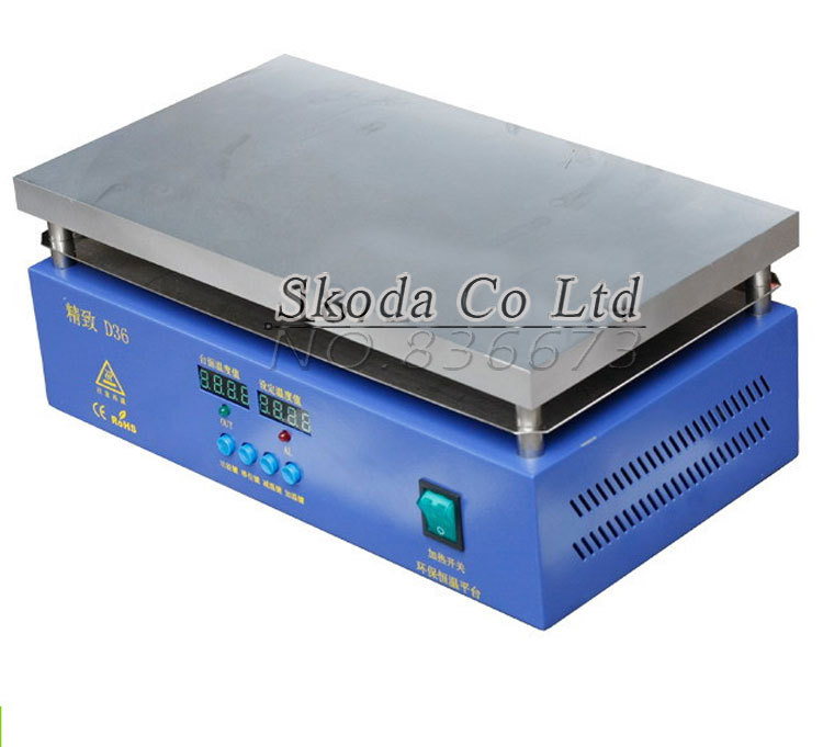 D36 Digital constant temperature heating platform 360*200mm 1500W preheat station BGA Preheating Station / PCB Preheater Board 853a bga constant temperature lead free preheating stations