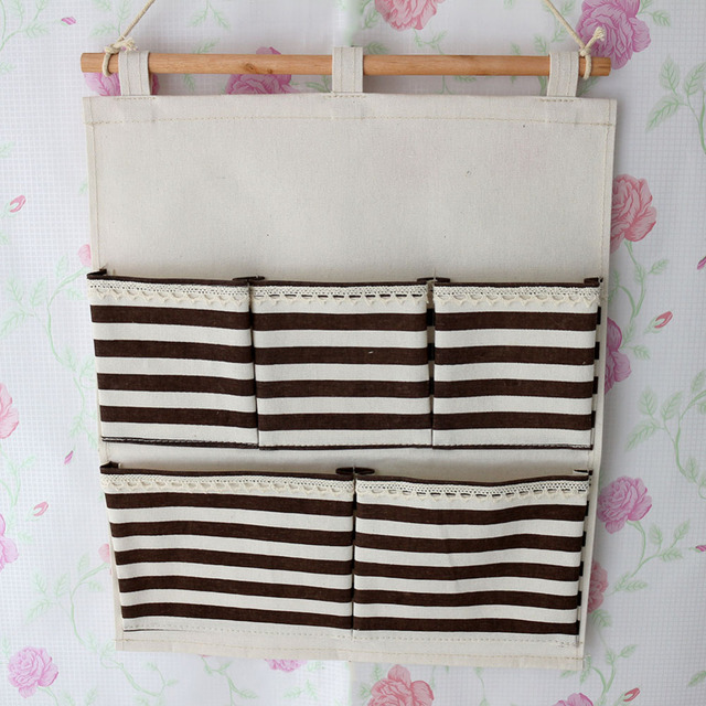 1pcs 5 Bags Hanging Wall Bags Pockets Closet Organizer Containers ...