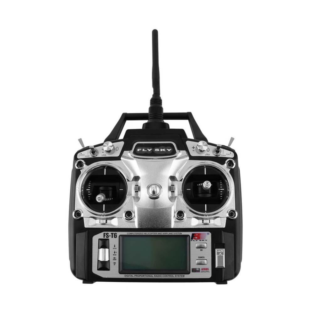 Flysky FS-T6 Radio Control 2.4G 6 CH Transmitter + Receiver for Helicopter RC graupner mz 12 radio controller rc transmitter 2 4ghz 6 ch remote control system with gr 18 receiver for rc airplane helicopter