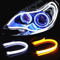 OKEEN 2Pcs 85cm 30cm 45cm 60cm DRL Flexible LED Tube Strip Daytime Running Lights Flexible Turn