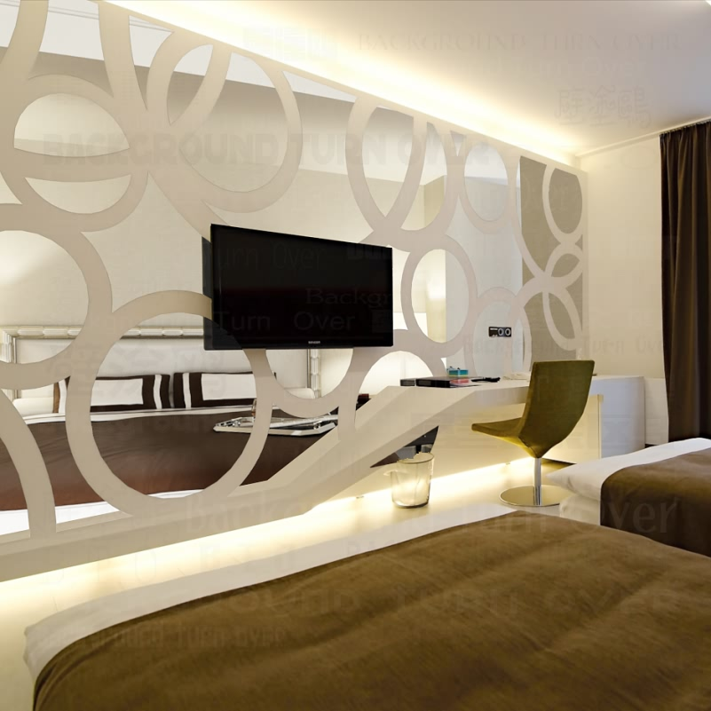 DIY moda yaradıcı dairə halqa TV fon 3d güzgü dekorativ divar - Ev dekoru - Fotoqrafiya 3