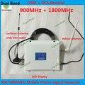 Display LCD GSM DCS Repetidor GSM Amplificador Booster de Sinal de Celular Dual Band 2G 4G 900 1800 MHz Sinal de Telefone Celular Móvel repetidor
