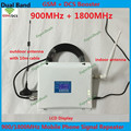 Pantalla LCD GSM Repetidor GSM DCS Booster Amplificador de Señal Celular doble Banda 2G 4G 900 1800 MHz Señal Del Teléfono Móvil Celular repetidor