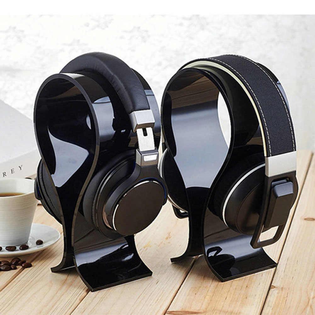 Universal Acrylic Earphone Headset Holder Headphone Desk Display Stand for Earphone Accessories DU55