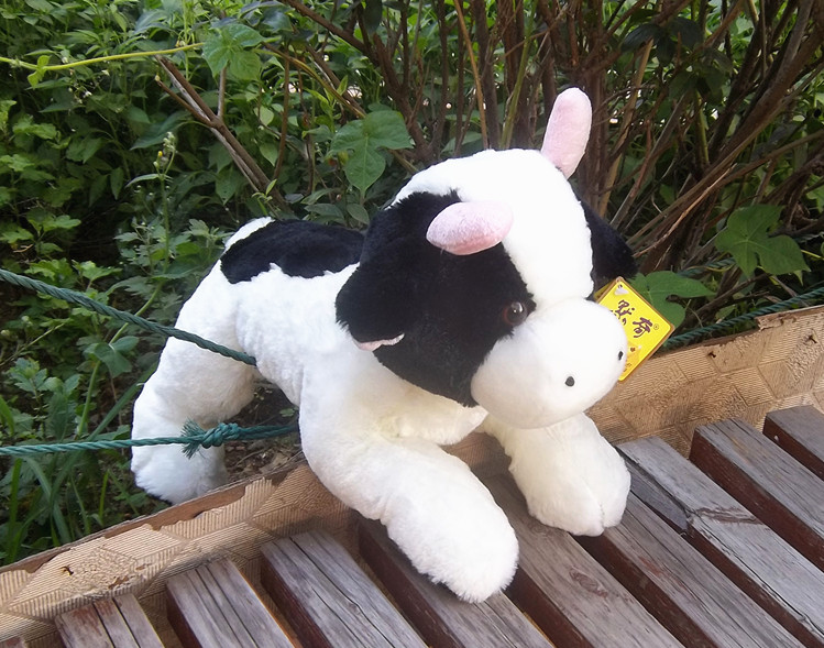 high quality large 42cm cartoon dairy cow plush toy doll soft throw pillow birthday gift b0415