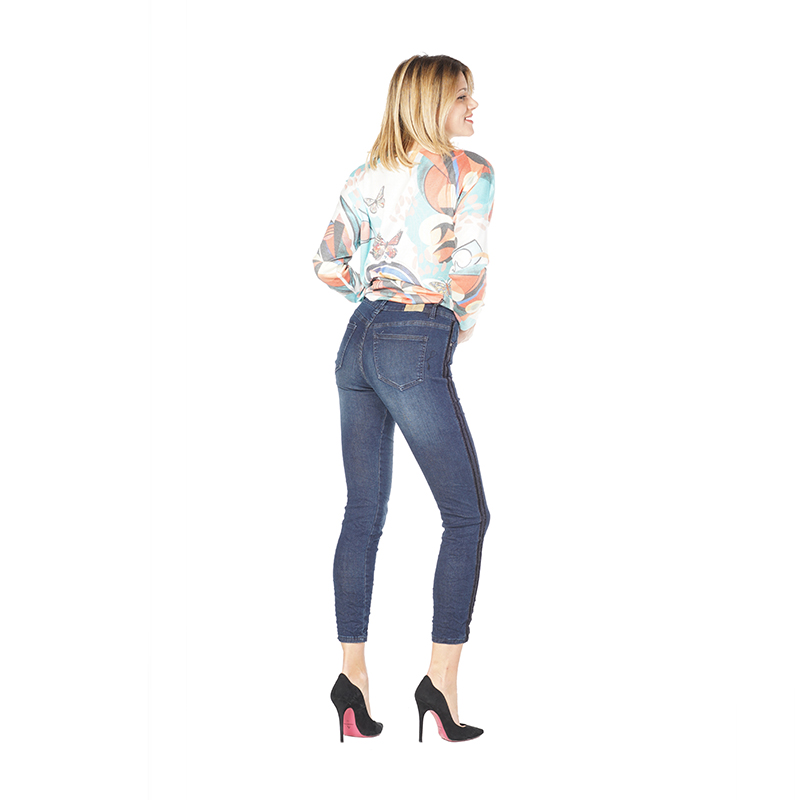 My Will Jeans Ladies Cropped Trousers Blue Jeans 717-1 Made In China
