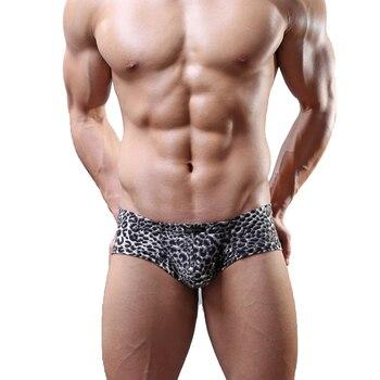 Wild Men Boxer Shorts Leopard Sexy Mini Underwear Mens Soft Underpants Boxers Breathable Male U Convex Pouch Trunks Panties - discount item  40% OFF Men's Underwears
