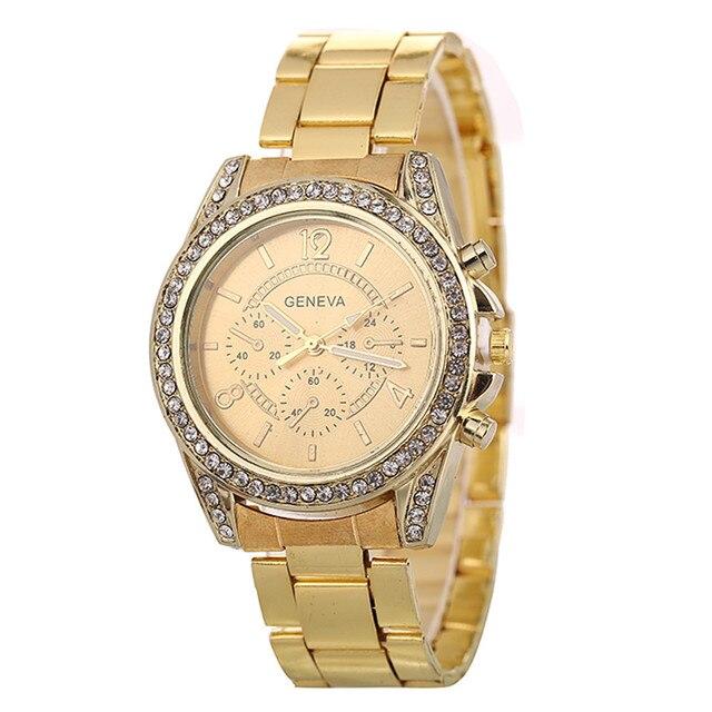 Luxury Watch Dress Bracelet Watch Fashion Quartz Wrist Watch Classic Brand Gold