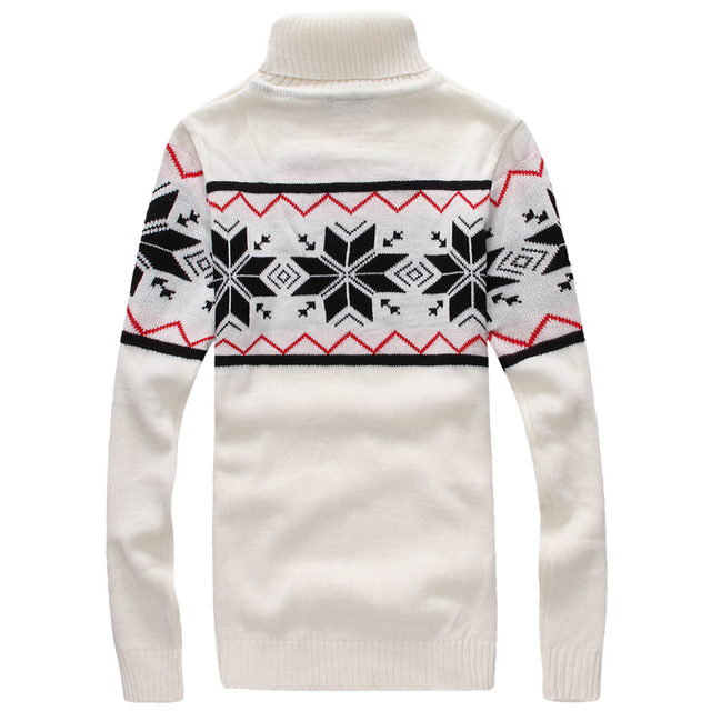 Christmas Sweater Mens Winter Warm Turtleneck Pullover Men Geometric Patterns Luxury Men Casual Sweaters Bape Knitted Clothing
