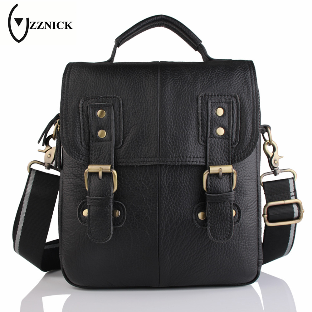 ZZNICK 2017 Spring New Genuine Leather Male Bags Brand Men Messenger Bags Casual Men's Cross Body Shoulder Bag Men's Travel Bag zznick 2017 new men genuine leather messenger bag male cowhide leather cross body shoulder bag vintage men bags handbag