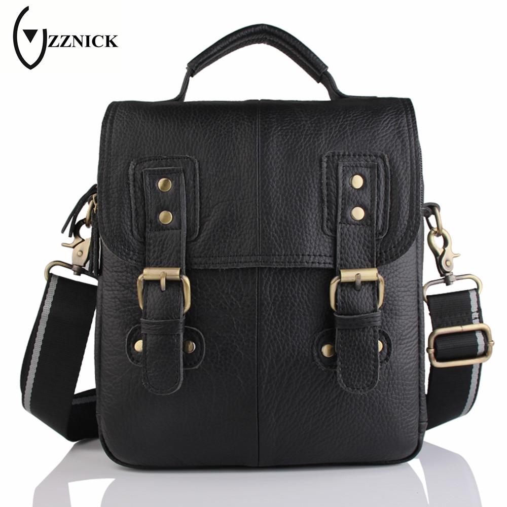 ZZNICK 2018 Spring New Genuine Leather Male Bags Brand Men Messenger Bags Casual Men's Cross Body Shoulder Bag Men's Travel Bag