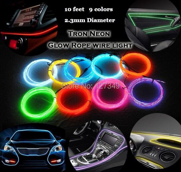 Auto styling kaltlicht neonlicht el drahtseil schlauch streifen ...