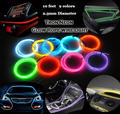 Car-styling Cold Light Neon Light EL Wire Rope Tube Strips Lemon/Red/Yellow/Green/White/Blue/Purple/Pink 3M Flexible Decoration