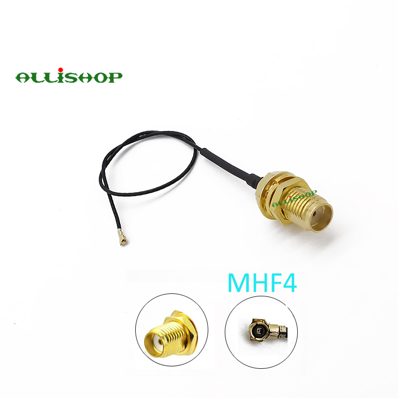 ALLiSHOP IPX IPEX U.FL MHF4 to SMA Female RF Pigtail Jumper Cable 0.81mm for PCI WiFi Card Wireless Router(China)