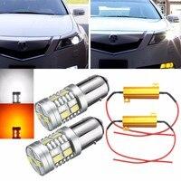 2 UNIDS 1157 4.2 W 5730 20smd Color Dual Switchback LED Turn Signal Light Bulbs Resistencias de Coches Luces de Giro bombillas de Iluminación