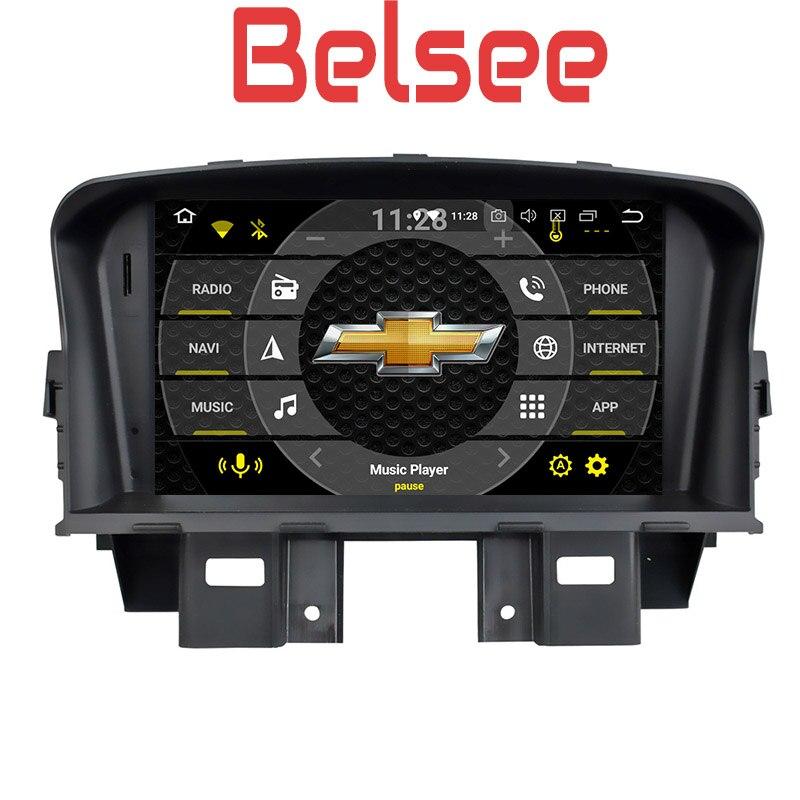 Belsee pour Chevrolet Cruze 2008-2011 Octa Core lecteur DVD stéréo Autoradio Android 8.0 Autoradio GPS unité Bluetooth Mirrorlink