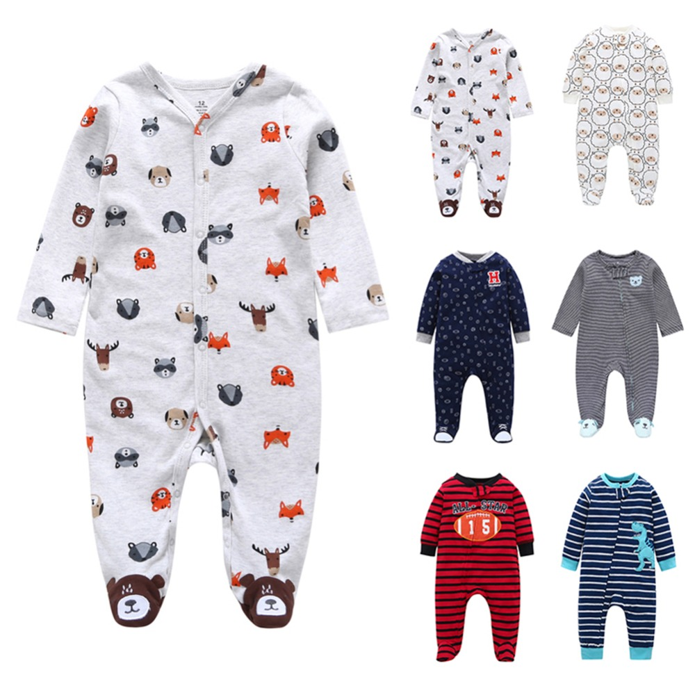 Baby Clothing 2018 New Newborn jumpsuits Baby Boy Girl Long Sleeve   Romper   Clothes cute